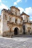 собор Гватемала Антигуы Стоковое Фото