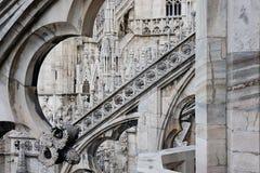 собор детализирует милан Италии купола Стоковое Изображение
