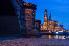 Собор Дрездена/католическая часовня суда стоковая фотография rf