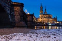 Собор Дрездена/католическая часовня суда Стоковые Изображения