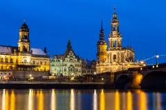 Собор Дрездена/католическая часовня суда Стоковые Фотографии RF