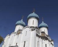 Собор девой марии в аббатстве sergei sam, Российской Федерации стоковая фотография rf