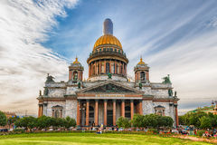 Собор иконического Исаак Святого в Санкт-Петербурге, России Стоковое Изображение RF