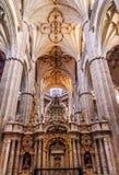 Собор Испания Саламанки каменных статуй столбцов новый Стоковое фото RF