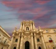 собор Италия Сицилия syracuse стоковые фотографии rf