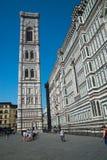 Собор Италии Флоренса на заднем плане голубого неба Стоковые Фотографии RF