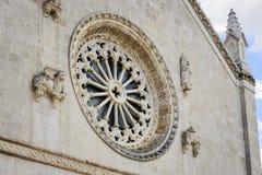Собор Италия розового окна Стоковое фото RF