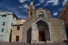 Собор итальянского городка Ventimiglia Стоковая Фотография RF
