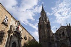 Собор и архиепископ Дворец Toledo Стоковые Фотографии RF