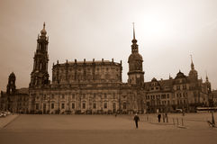 Собор и замок Дрездена Стоковые Фото