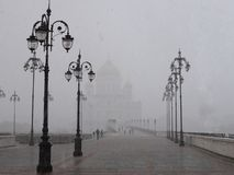 Собор и снег Стоковые Изображения