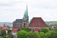 Собор и церковь Святого Severus в Эрфурте стоковое изображение