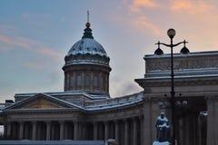 Собор Казани, квадрат Казани стоковые изображения