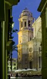 Собор Кадиса Ла Catedral Vieja, Iglesia de Santa Cruz Стоковая Фотография