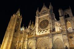 Собор Леон, Испании Стоковое Изображение RF