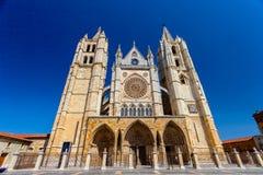 Собор Леон, Испании Стоковое Фото