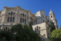 Собор Малаги, Косты del Sol, Испании стоковые изображения rf