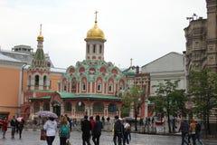 Собор матери Казани бога на красной площади Стоковое Изображение RF