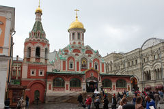 Собор матери Казани бога на красной площади Стоковая Фотография RF