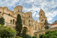 Собор Малаги в Андалусии, Испании Стоковые Изображения