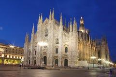 Собор Милан принятое куполом стоковые фотографии rf