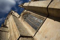 Собор монастырской церкви Йорка и витраж, Йоркшир Стоковая Фотография