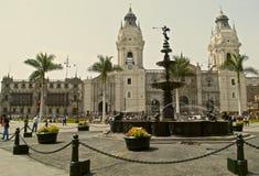 Собор мэра Лимы и площади Стоковая Фотография RF