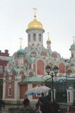 Собор нашей дамы летнего дня Казани стоковая фотография rf