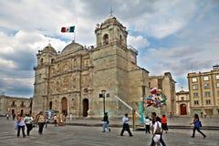 Собор нашей дамы предположения, Оахака (Мексика) стоковые изображения rf
