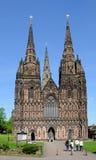 Собор на запад противостоит, Lichfield, Великобритания стоковые фото