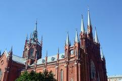 Собор непорочного зачатия благословленного фасада в июле девой марии собора стоковые фото