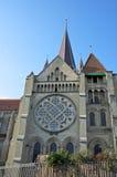 Собор Нотре Даме в Lausanne, Швейцарии Стоковая Фотография RF