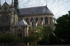 Собор Нотр-Дам, взгляда со стороны Стоковая Фотография
