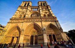 Собор Нотр-Дам в Париже стоковые изображения