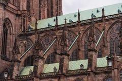 Собор Нотр-Дам в страсбурге Стоковая Фотография