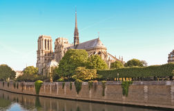 Собор Нотр-Дам, Париж, Франция Стоковые Фотографии RF