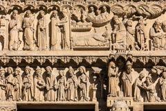 Собор Нотр-Дам de Парижа: Архитектурноакустические детали Париж, Fra Стоковая Фотография