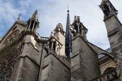 Собор Нотр-Дам de Париж - Франция Стоковые Фото