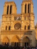 Собор Нотр-Дам de Париж - Франция Стоковое фото RF