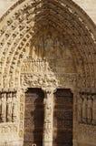 Собор Нотр-Дам de Париж - французское architecure - Париж, Франция Стоковое Изображение