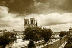 Собор Нотр-Дам, Париж Стоковые Изображения RF