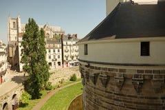 Собор от ducs de Бретаня des Château в Нанте Стоковые Фотографии RF