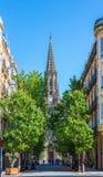 Собор пастора Buen San Sebastian, Gipuzkoa, Баскония, Испания Стоковые Изображения RF