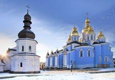 собор позолотил снежок святой michael правоверный стоковые изображения rf
