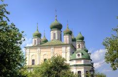 Собор предположения благословленной девой марии Монастырь предположения Goritsky Стоковые Изображения RF
