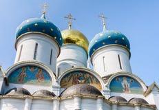 Собор предположения благословленной девой марии Святой Троиц-St Sergiev Posad Стоковое Изображение