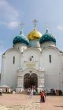 Собор предположения благословленной девой марии Святой Троиц-St Sergiev Posad Стоковое Фото