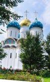 Собор предположения благословленной девой марии Святой Троиц-St Sergiev Posad Стоковые Изображения RF