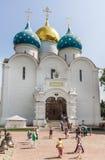 Собор предположения благословленной девой марии троица st sergius sergiev России posad скита Стоковые Фото