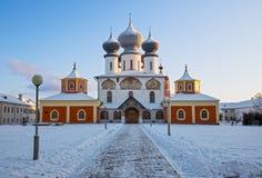 Собор предположения в Tikhvin, России Стоковое Изображение
